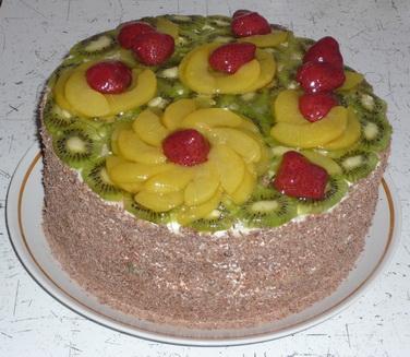 Торты фруктовые с желатином